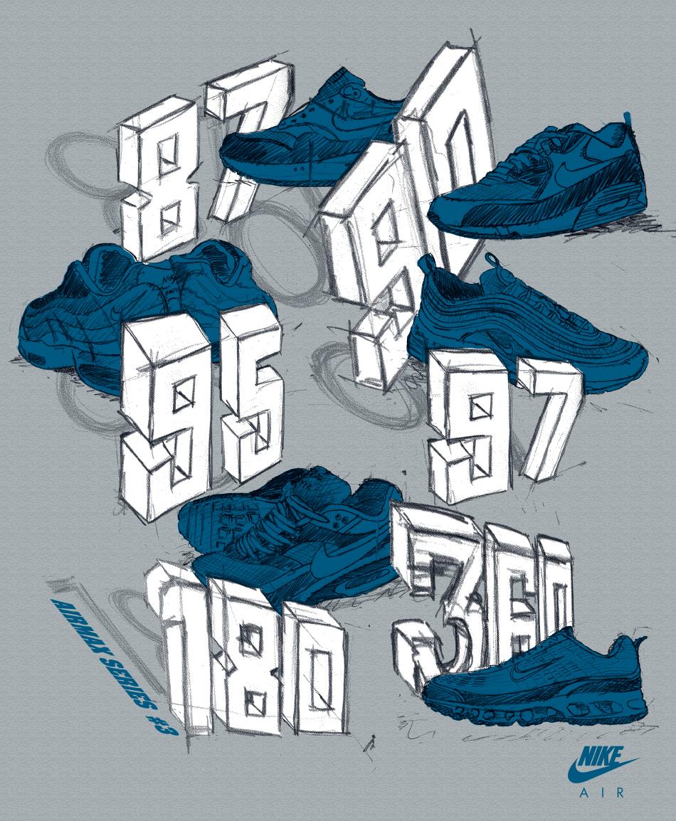 Nike Postcards set 5E