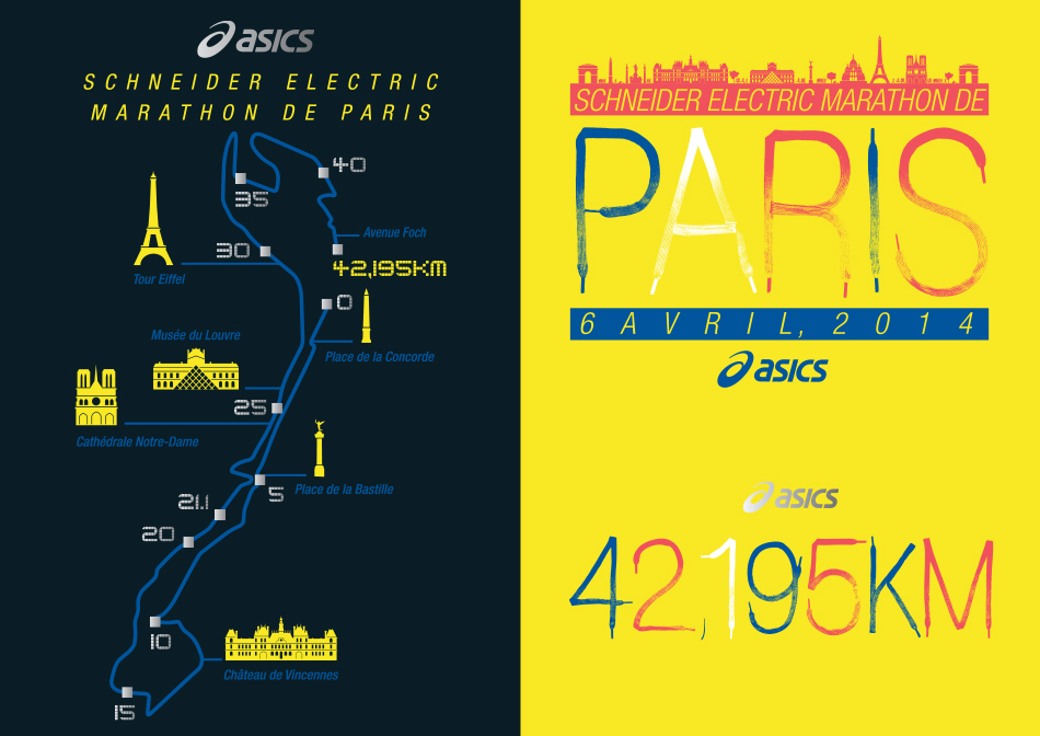 Asics Postcards set 2