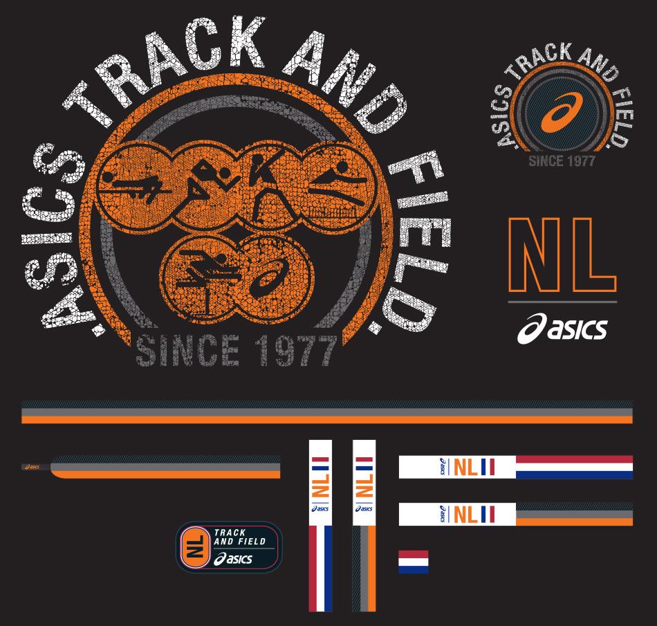 Asics Postcards set 44B