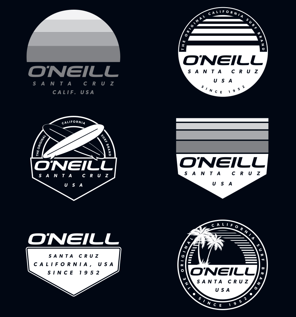 O'Neill Postcards set 7B
